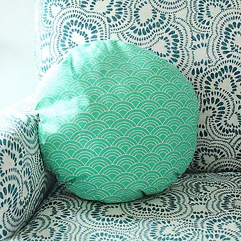 """Wave Round Striped Decorative Round Pillow Cover 16"""", Circle Pillow"""