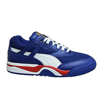 Puma Palace Guard Finals Chunky Blue Low Leather Lace Up Mens Trainers 370075 01