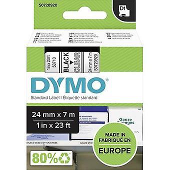 Etikettering tape DYMO D1 53710 Tape kleur: transparant lettertype kleur: zwart 24 mm 7 m