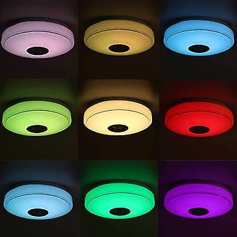 Moderni led-kattovalot Kotivalaistussovellus Bluetooth Music Light+kaukosäädin