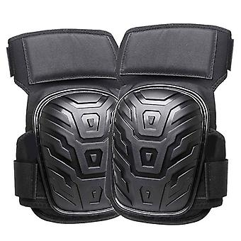 Motorcycle Leg Cover Knee Pads With Adjustable Straps Gel Cushion Pvc Knee