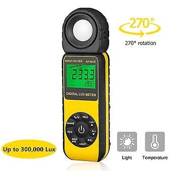 Ap-881e digitale lux meter lichtmeter bereik tot 300.000lux, handheld digitale lichtmeter ambient te