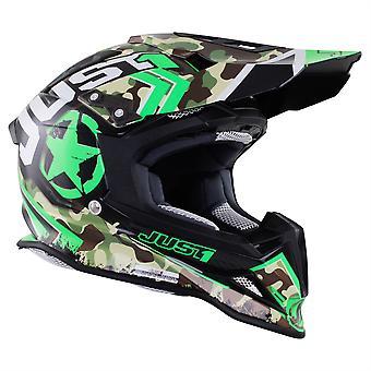 Just 1 J12 Carbon MX Helmet Kombat Green