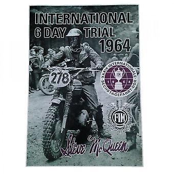 Larrini Steve Mcqueen International 6 Day Trial 1964 Poster