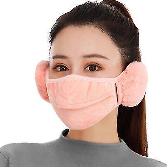 المرأة الشتاء Earmuff، تغطية الفم في الهواء الطلق، كاتملر Earmuffs، المخملية أقنعة دافئة،