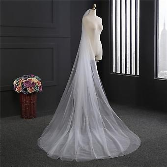 2 lager bröllopsslöja, enkel brudslöja med kambröllopsslöja