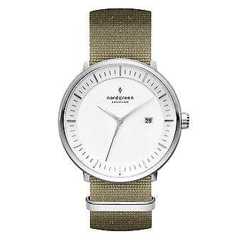 Nordgreen Unisex Philosopher Nylon Silver 36mm Watch PH36SINYAGXX
