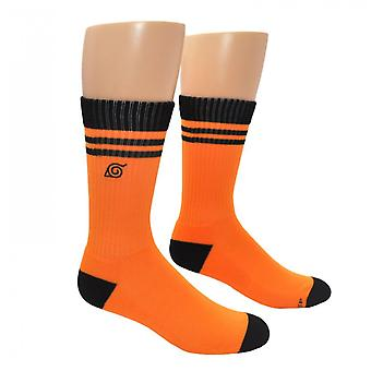 Naruto Shippuden Hidden Leaf Embroidered Athletic Crew Sock