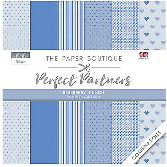 The Paper Boutique - Perfect Partners Collection - 8x8 Paper Pad - Blueberry Punch