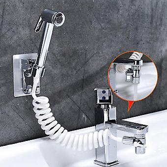 Badkamer kraan externe douche handheld sproeier sprinkler + basis + slang + klep set