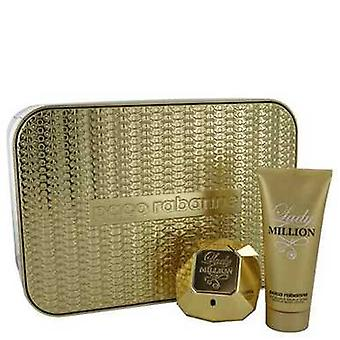 Lady Million By Paco Rabanne Gift Set -- 2.7 Oz Eau De Parfum Spray + 3.4 Oz Body Lotion (women) V728-501138
