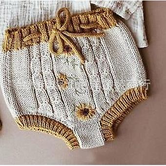 Autumn/ Winter- Knit Flower Sweater, Pants Cotton Fashion Jumpsuits