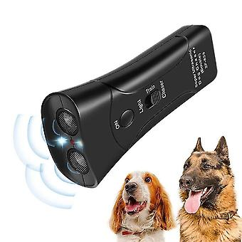 Dual-head portable ultrasonic pet dog repeller control training
