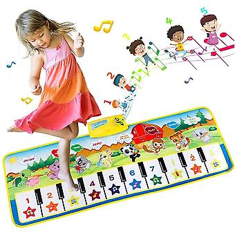 EXTSUD Piano Music Dance Mat, Multi-Function Piano Mat for Toddlers, Musical Toys Play Mats Music