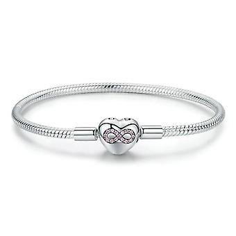 Zilveren oneindige liefde armband