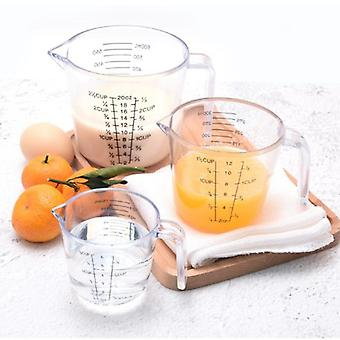 Plastic Measuring Cup, Clear Scale Show Transparent Mug