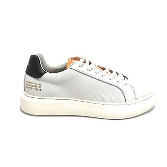 Men's Shoe Ambitious 10634a Sneakers In White Leather / Black High Bottom Us21am10