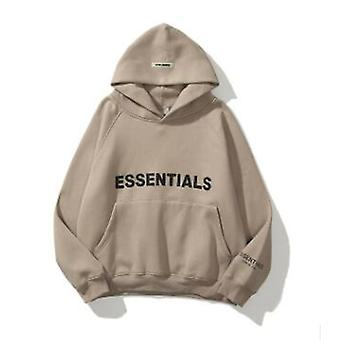 Mens Womens Fear of God Essentials Hoodie Par Tröja Dimma High Street Jacka Khaki