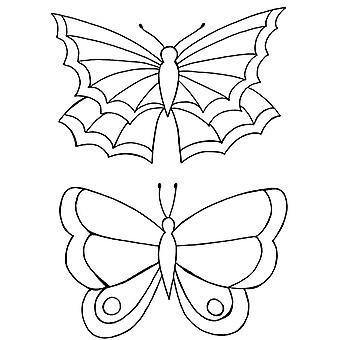 Lindsay Mason Designs Zendoodles Butterflies Clear Stamp