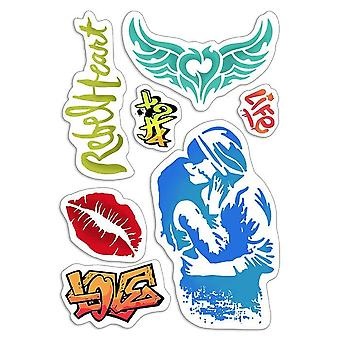 "Ciao Bella 4""x6"" Stamps - Urban Kiss"