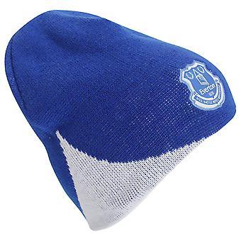 Everton FC Mens Officiële Voetbal Crest Gebreide Winter Beanie Hat