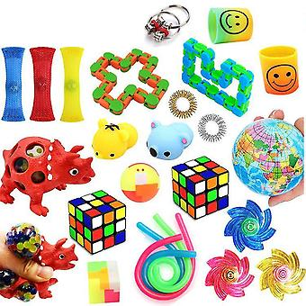 Favor 24pcs Fidget Set Pack til Kids Pop it Stress bold
