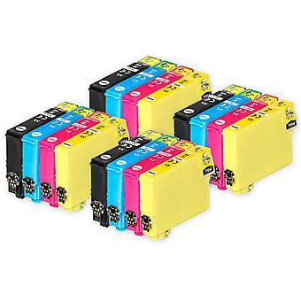 4 Sada 4 atramentových kaziet, ktoré nahradia epson 502XL kompatibilný/non-OEM z atramentov Go (16 atramentov)