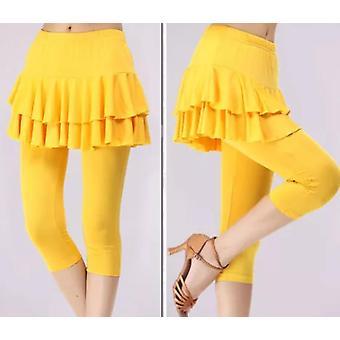 Tennis Badminton Dance Tights Woman Knee Length Skirt Pants