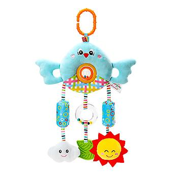 Bird Baby Hanging Toys Children Rattle Toys With Chime Soft Plush Rattling Doll Blue