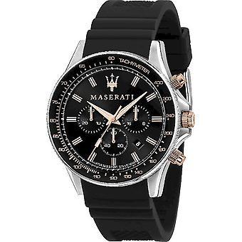 Maserati Men's Watch Sfida 44mm Black Silicone R8871640002