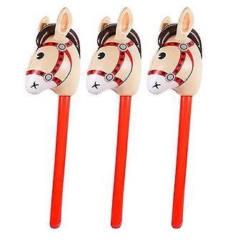 Puhallettavat hevosenpäät Cowgirl Stick, Pvc-ilmapallo, Ulkokasvatus,