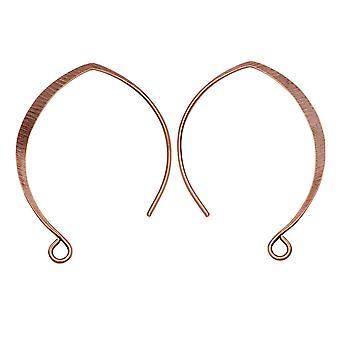 Örontråd, V-stil 33mm, antikt koppar, 1 par, av Nunn Design