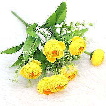 5個のエミュレーションフラワーシルクフラワーホテルの装飾結婚式の撮影小道具乾燥花偽の花