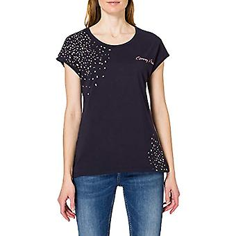 edc by Esprit 031CC1K336 T-Shirt, 400/Navy, XS Women
