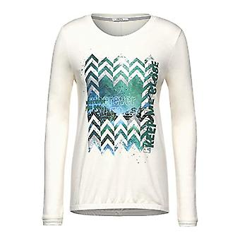 Cecil 315646 T-Shirt, Light Alabaster Beige, L Woman