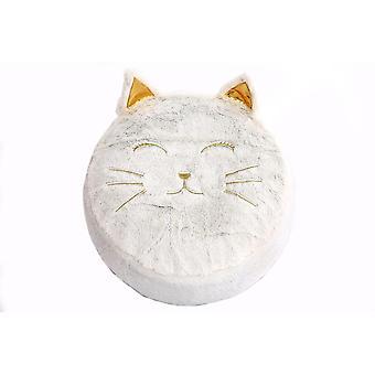 Velvet Pouffe Lapsille Wilddidou Cat 45cm Dia