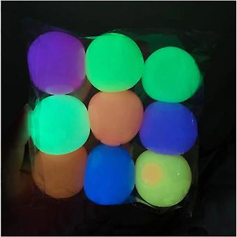 Wall Balls Fun Stress Relief Squeeze Stretchy Luminous Balls Toy