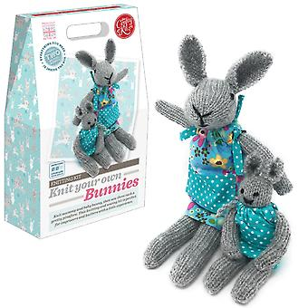 Knit Your Own Easter Bunnies Knitting Kit For Improvers