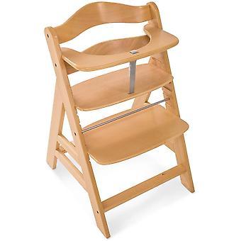 هاك ألفا + كرسي خشبي عالية الطبيعية