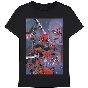 Marvel Comics - Deadpool Composite Heren Klein T-Shirt - Zwart