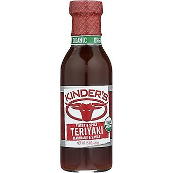 Kinders Marinade Swt N Spicy Org, Case of 6 X 15 Oz