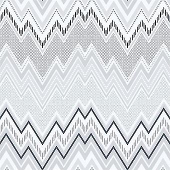 Tempo Zig Zag Grey Wallpaper