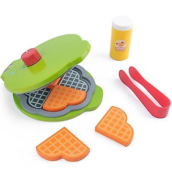 Children's wooden simulation toaster, boy and girl play house kitchen toy set