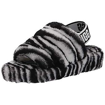UGG Women's Fluff Yeah Slide Zebra Slipper