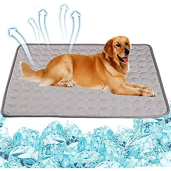 Dog Cooling Mat Sleeping Cooling Pad Washable Ice Silk Cool Blanket For Kennel Sofa Bed