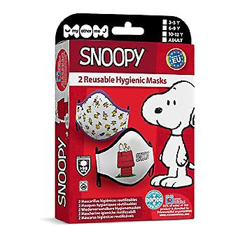 Hygienic Reusable Fabric Mask Snoopy Adult (2 uds)