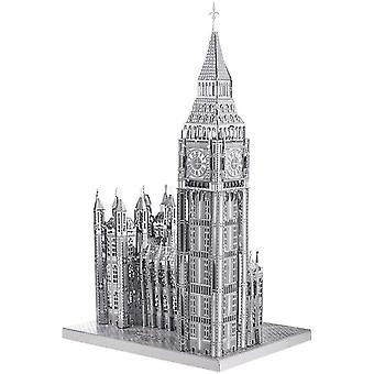 3D Lasergeschnittenes DIY Weltbekannt Architekturmodell Metallmodell-Puzzles für Erwachsene- Big