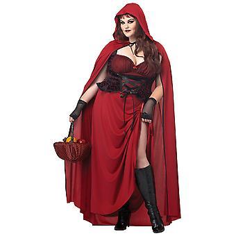 Donkere Little Red Riding Hood Fairytale verhaal boek Week vrouwen kostuum Plus