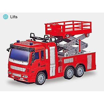 RC Engineering Truck Mixing Crane Dump Car Model Children's Toys Boys Birthday Christmas Gifts(Red)