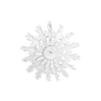 SISTE FÅ - 37cm Single White Snowflake Hengende Vev Papir Fans